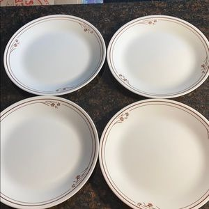 """4 Corelle  Melody 10.25"""" Dinner Plates"""